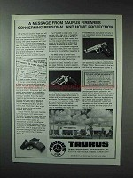 1993 Taurus Firearms Ad - Personal and Home Protection