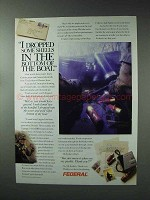 1993 Federal Cartridge Ad - Dropped in Bottom of Boat