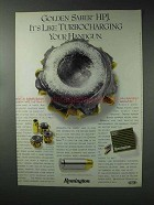 1993 Remington Golden Saber HPJ Ammunition Ad