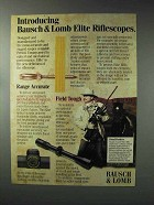 1993 Bausch & Lomb Elite Riflescopes Ad