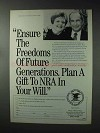 1993 NRA National Rifle Association Ad - Freedoms