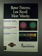 1993 Browning Shotguns Ad - Better Patterns Less Recoil