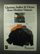 1993 Browning Hydro-Fleece Jackets Ad - Quiter, Softer