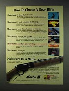 1993 Marlin 30/30 Lever Action Rifle Ad - How To Choose