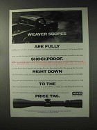 1993 Weaver Scopes Ad - Fully Shockproof
