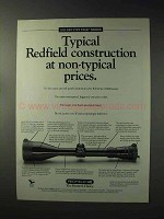 1993 Redfield Scopes Ad - Typical Construction