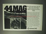 1993 Simmons 44 Mag Scope Ad - Great Looking Jacket