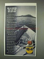1993 WD-40 Lubricant Ad - Before You Cast Off