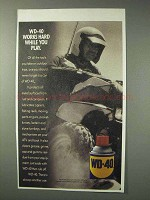 1993 WD-40 Lubricant Ad - Works Hard While You Play