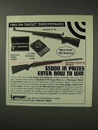 1993 Lyman Ad - Lakefield 91 TR & Winchester 70 Rifles