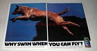 1993 Purina Hi Pro Dog Food Ad - Why Swim Can Fly