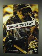 1992 U.S. Army Reserve Ad - Bank Teller