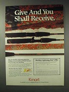 1992 Kmart Berkley Lightning Rod Ad - Give and Receive
