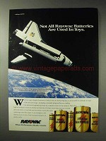 1992 Rayovac Batteries Ad - Space Shuttle Endeavour