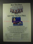 1992 Valvoline Motor Oil Ad - Buy the Bait, Get Tackle