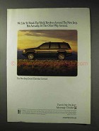 1992 Jeep Grand Cherokee Limited Ad - World Revolves