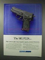 1992 Sigarms Sig P228 Pistol Ad - High Contrast Sights