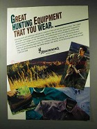 1992 Browning Clothing Ad - Great Hunting Equipment