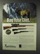 1992 Browning Rifle Ad - BAR, A-Bolt Stainless Stalker
