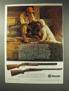 1992 Beretta 686 ONYX and 626 ONYX Shotguns Ad