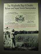 1992 Weatherby Shotgun Ad - Bag-A-Double