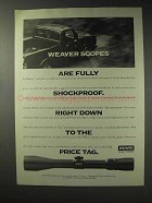 1992 Weaver Scopes Ad - Fully Shockproof