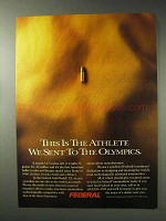 1992 Federal Cartridge Ad - Athlete We Sent to Olympics