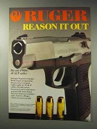1992 Ruger P90DC Pistol Ad - Reason it Out