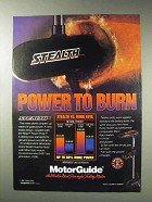 1992 MotorGuide Stealth Outboard Motor Advertisement - Power