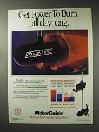 1992 MotorGuide Stealth Outboard Motor Ad - Power