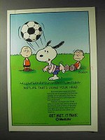 1992 MetLife Insurance Ad - Peanuts - Using Your Head