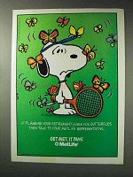 1992 MetLife Insurance Ad - Snoopy, Planning Retirement