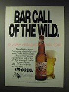 1992 Miller Sharp's Beer Ad - Bar Call of the Wild