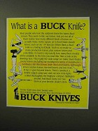 1992 Buck Knives Ad - What is a Buck Knife?