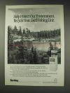 1991 Berkley Fishing Line Ad - Protect our Environment