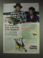 1991 Abu Garcia Cardinal Gold Max Reel Ad - Gold at End