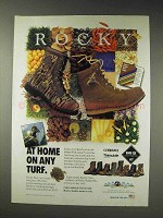 1991 Rocky Boots Ad - At Home on Any Turf