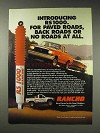 1991 Rancho RS 1000 Shocks Ad - For Paved Roads