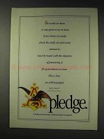 1991 Anheuser-Busch Beer Ad - A Pledge