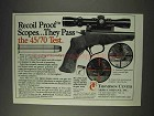 1991 Thompson / Center Scopes Ad - Recoil Proof