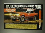 1991 Rancho RS 1000 Shocks Ad - Sportsman Sweepstakes