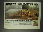 1991 Thompson's Wood Protector Ad - Never a Good Day