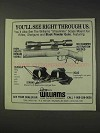 1991 Williams Gun Sights Ad - See Right Through Us