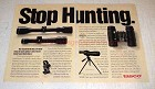 1991 Tasco Scopes and Binoculars Ad - Stop Hunting