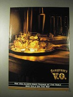 1990 Seagram's V.O. Whisky Ad - Friends at The Table