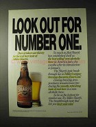 1990 Miller Sharp's Beer Ad - Look Out for Number One