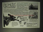 1990 Thompson / Center Arms Contender Pistol Ad