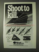 1990 Hoyt Broadheads and Replacement Blades Ad