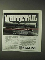 1990 Simmons Whitetail Classic Scope Ad