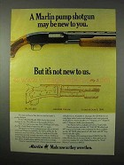 1975 Marlin 120 Magnum Pump Shotgun Ad - New To You